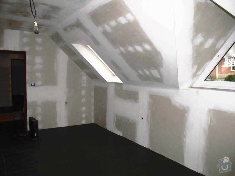 Montáž radiátorů a topných rozvodů do obytného podkroví: IMG_6658