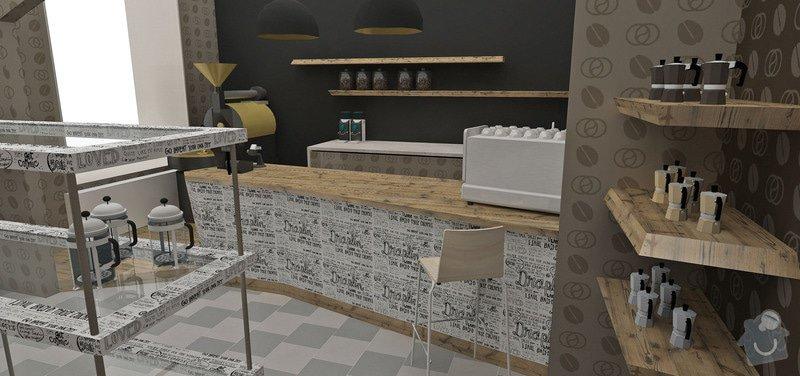 Barový pult a police do obchodu, pokládka laminátové podlahy 18m2: DM_A_03_11