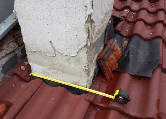 Oplechování komínu střecha