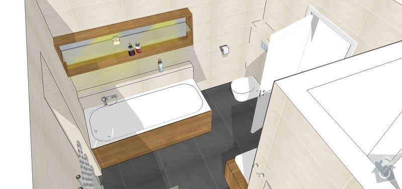 Vizualizace, návrhy, dispozice RD: koupelna4_b