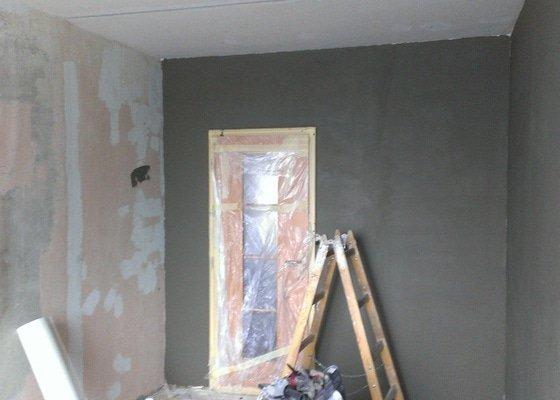 Štukování - 1 pokoj v panelovém domě