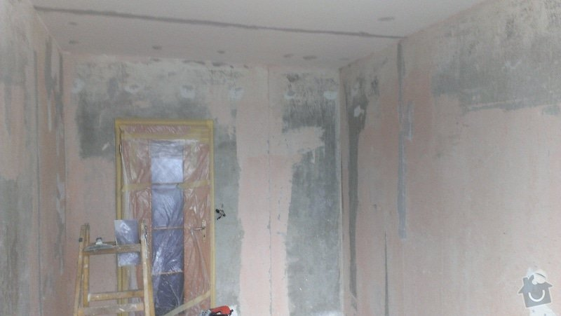 Štukování - 1 pokoj v panelovém domě: IMAG0618