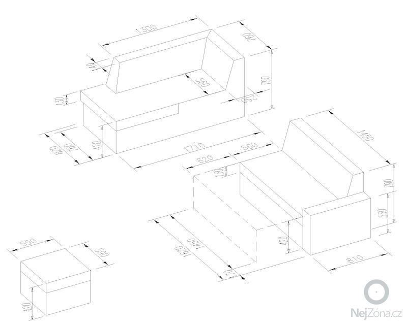 Nový potah sedačky: sedacka_rozmery