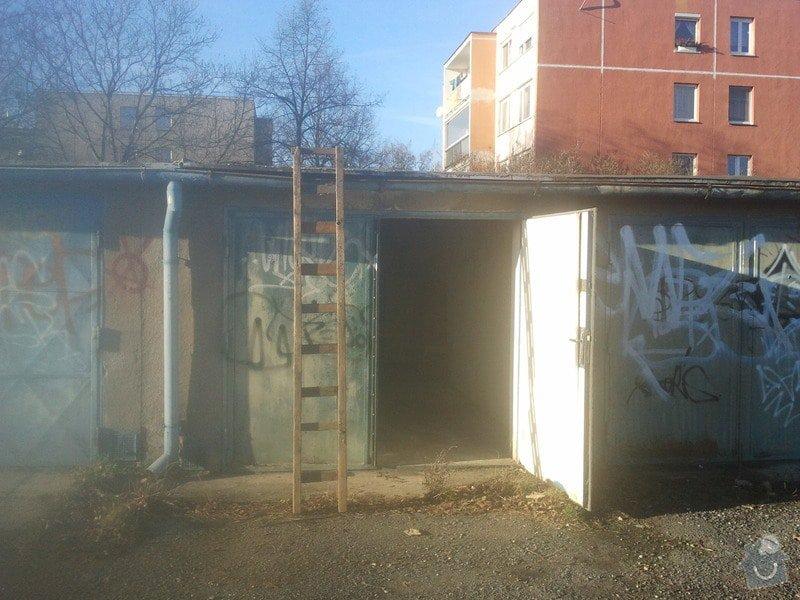 Oprava střechy řadové garáže: garaz_1