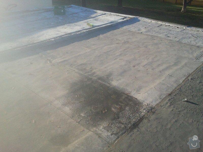 Oprava střechy řadové garáže: garaz3