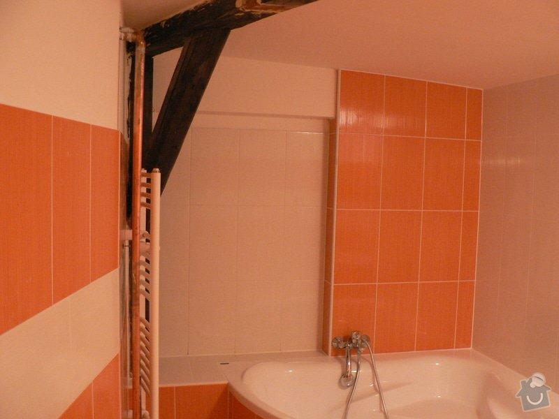 Rekonstrukce koupelny sádrokarton,vana.: P1150407
