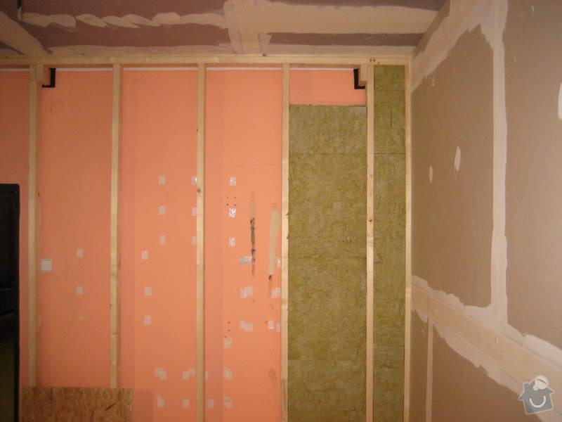 Vybudování konstrukce místnosti ze dřevěných trámů, (akustické příčky), akustická podlaha, sádrokarton.: IMG_0170