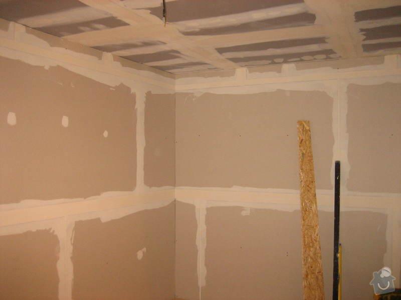 Vybudování konstrukce místnosti ze dřevěných trámů, (akustické příčky), akustická podlaha, sádrokarton.: IMG_0172