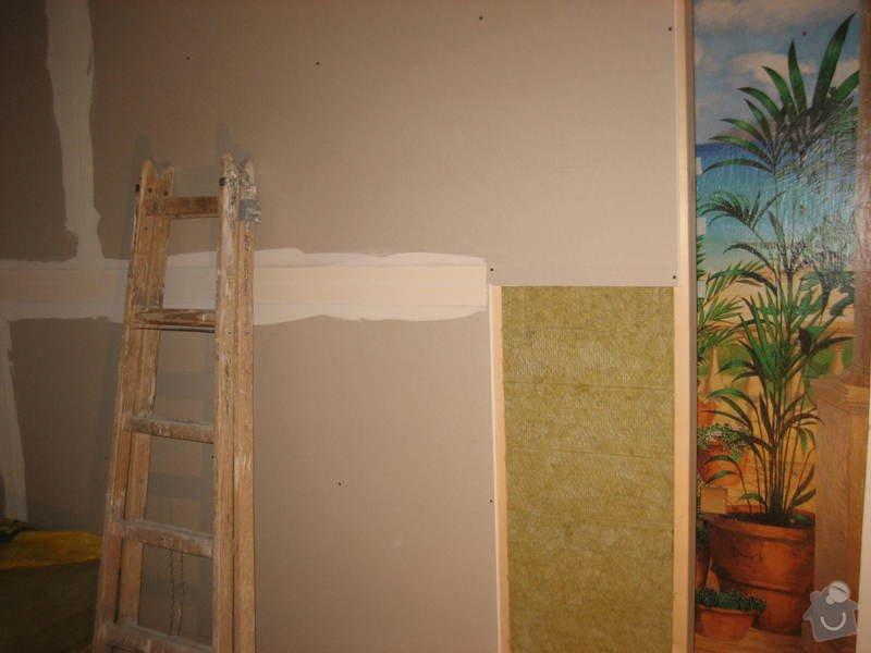 Vybudování konstrukce místnosti ze dřevěných trámů, (akustické příčky), akustická podlaha, sádrokarton.: IMG_0175