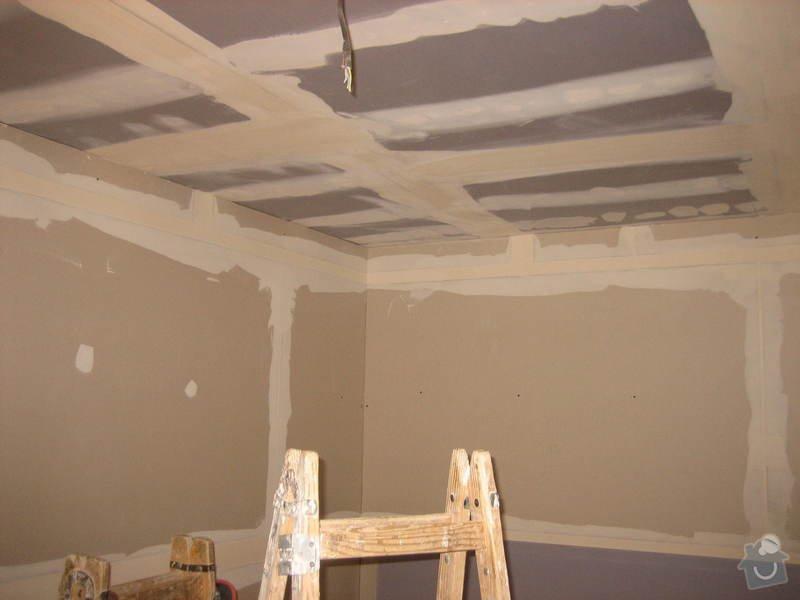 Vybudování konstrukce místnosti ze dřevěných trámů, (akustické příčky), akustická podlaha, sádrokarton.: IMG_0184
