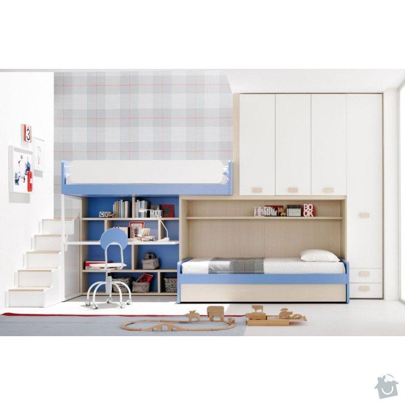 Nabytek na miru detsky pokoj: cameretta-letto-soppalco-05