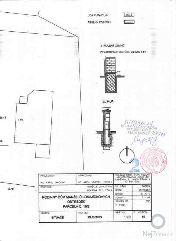 Instalace hromosvodu a revizní zpráva pro kolaudační řízení: zemnic_plan11