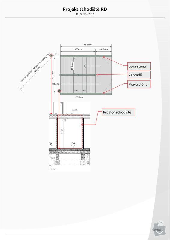 Osazení prvků betonového schodiště v novostavbě RD: projekt_schodiste_v0