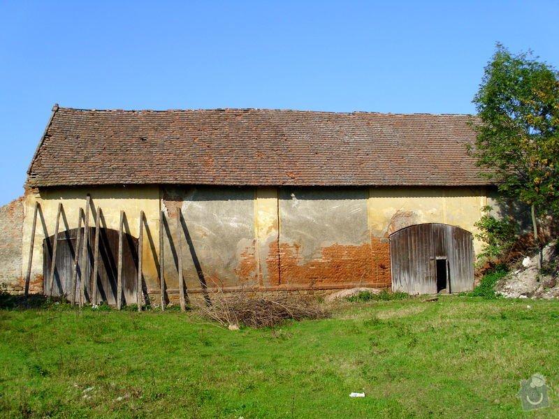 Oprava krovu na stodole: Neumerice_-_stodola_3452