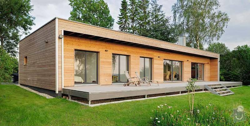 Stavba rodinného domu: 1-individuelles-designhaus-entwurf-moderner-bungalow-sued-west-ansicht