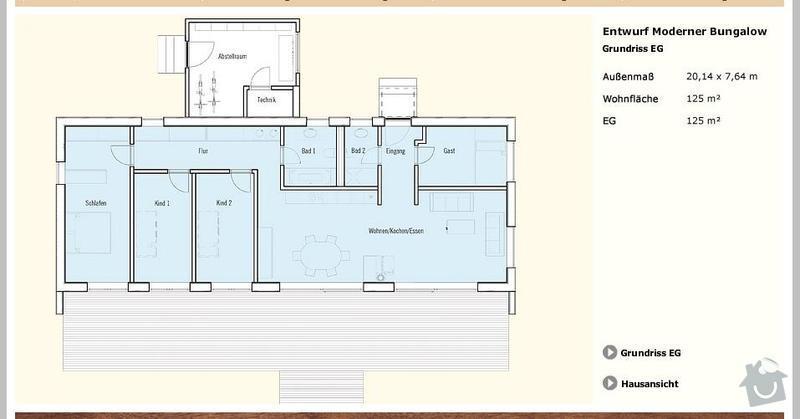 Stavba rodinného domu: Pudorys