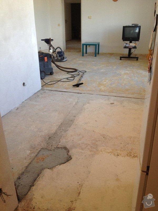 Srovnání podlahy nivelační stěrkou: IMG_1196