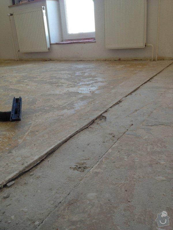 Srovnání podlahy nivelační stěrkou: IMG_1198