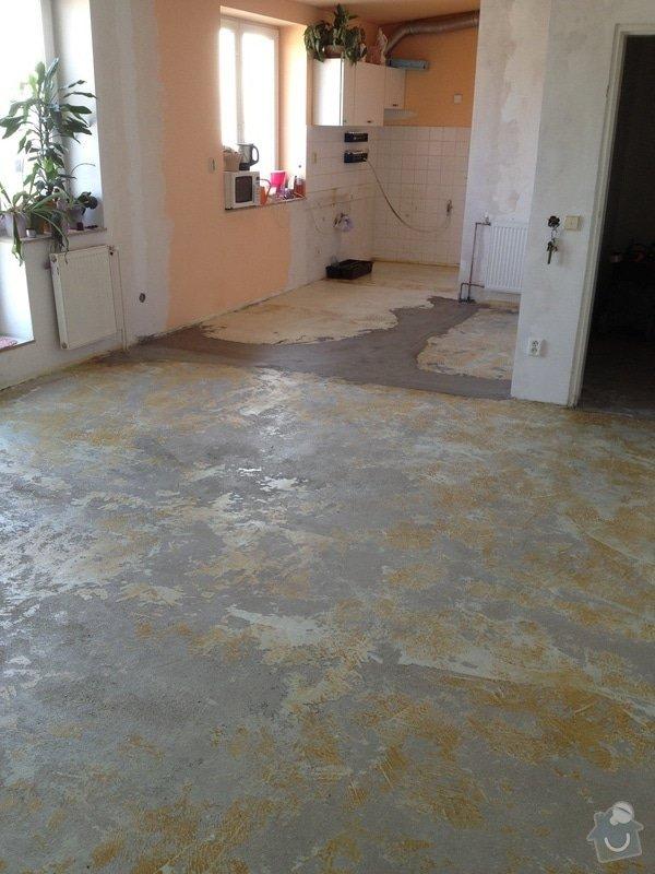 Srovnání podlahy nivelační stěrkou: IMG_1203
