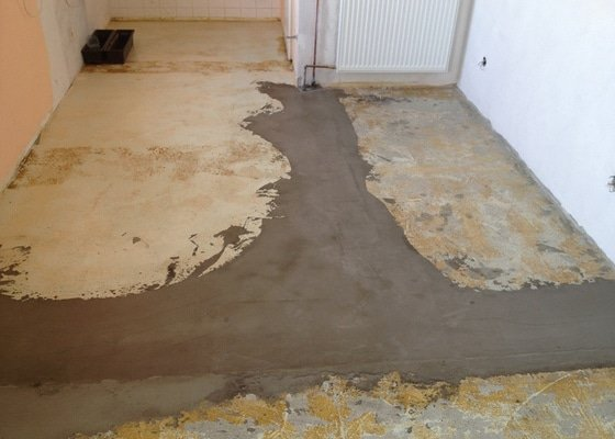 Srovnání podlahy nivelační stěrkou