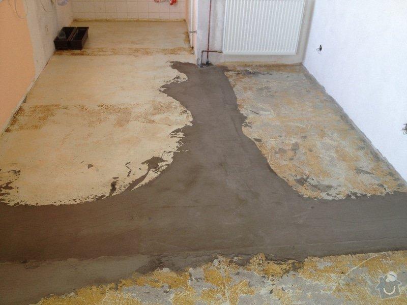 Srovnání podlahy nivelační stěrkou: IMG_1204