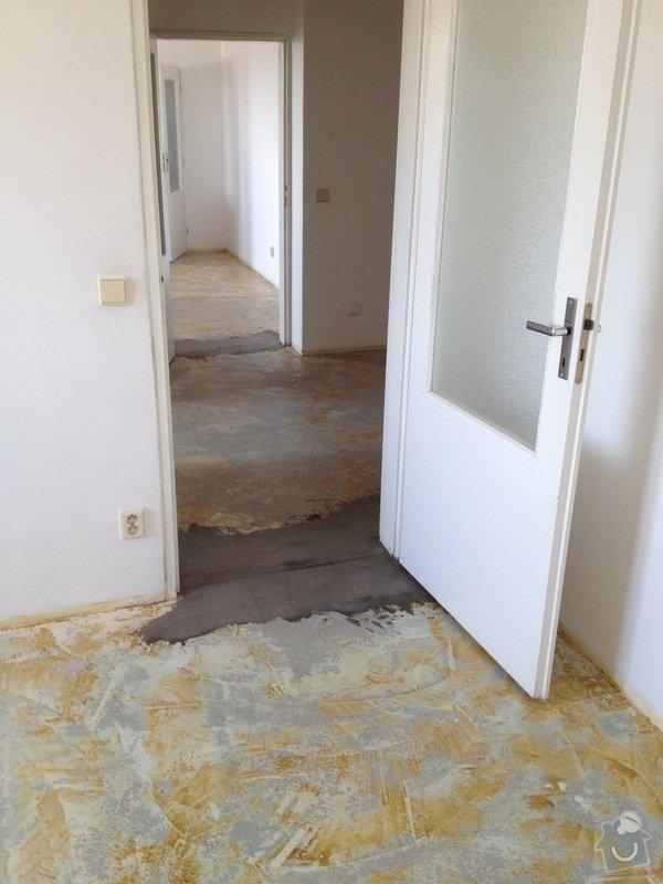 Srovnání podlahy nivelační stěrkou: IMG_1205