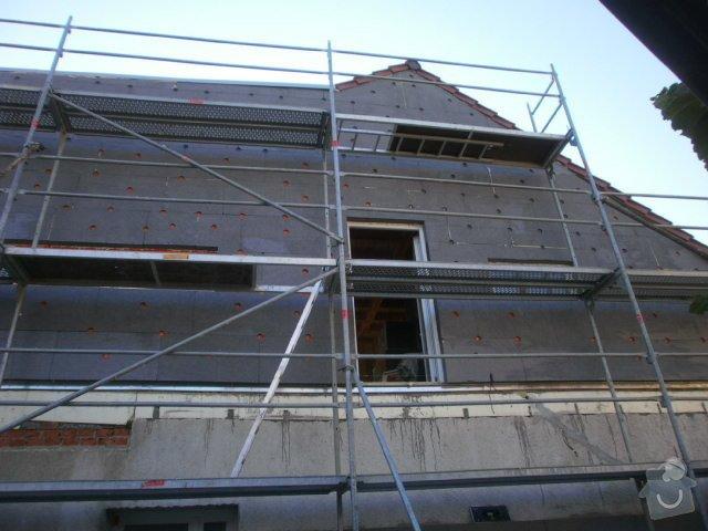 Zateplení fasády cca 250 m2: P8071397