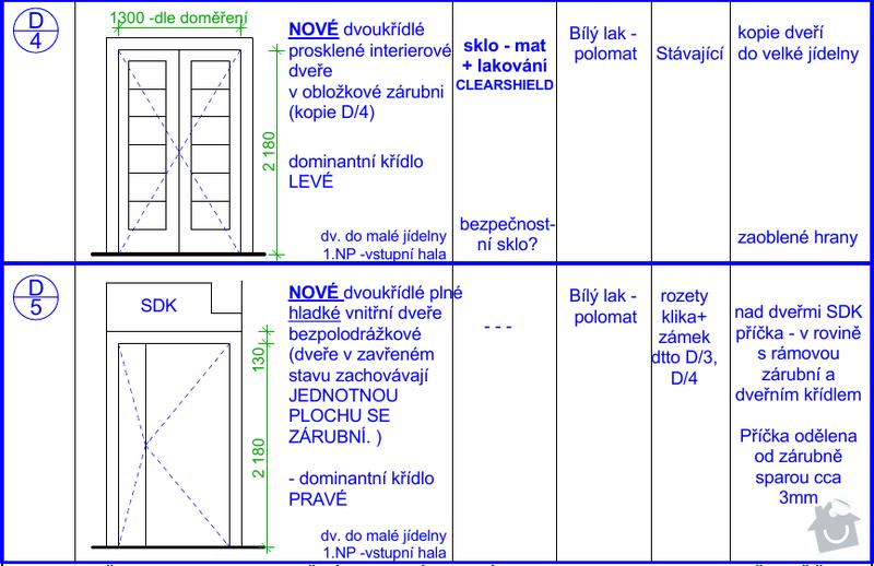 Výroba interiérových dveří: Dvere_4a5