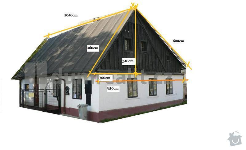 Kompletní rekonstrukce domku 62 m2 ve Vrchlabí: strecha