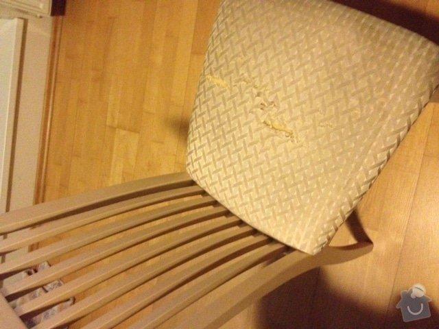 Přečalounění 1 židle: zidle