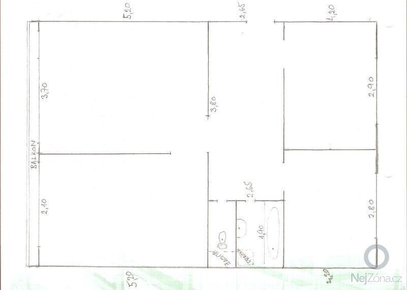 Rekonstrukce bytového jádra v bytě 3+1: 001