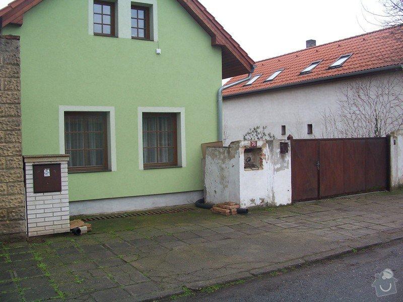 Stavba plotu a vjezdové brány: 100_2156