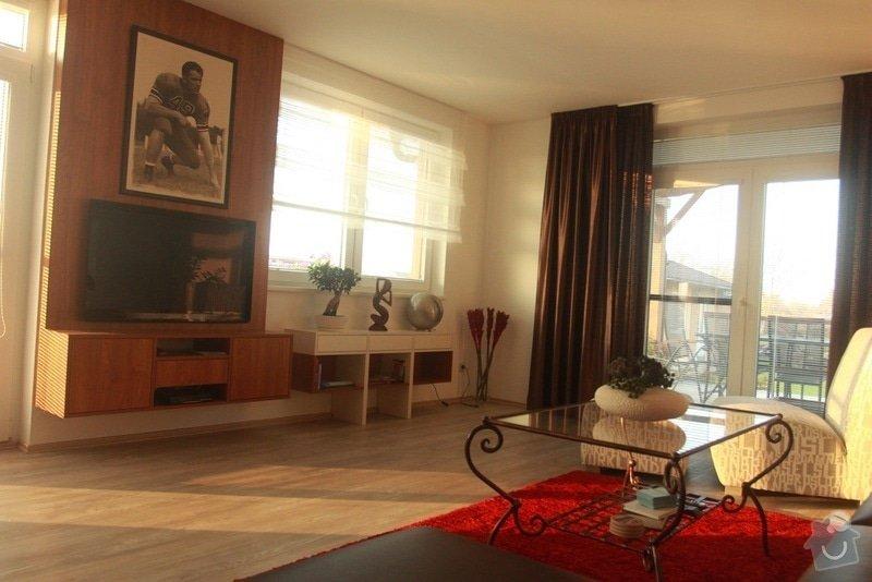 Návrh a realizace obývacího pokoje + home office: 2