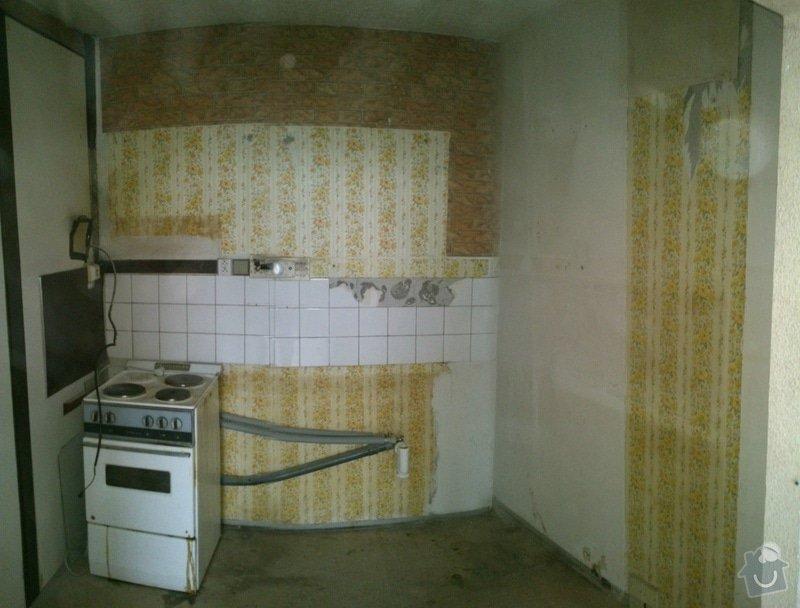 Rekonstrukce umakartového jádra v bytě 2+kk: kuchyn