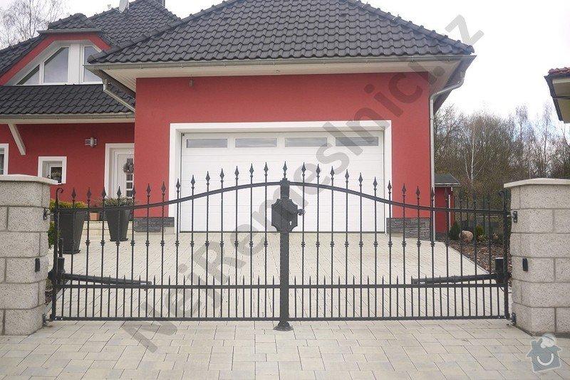 Ozdobný kovaný plot, branka a křídlová brána s pohonem: VN02