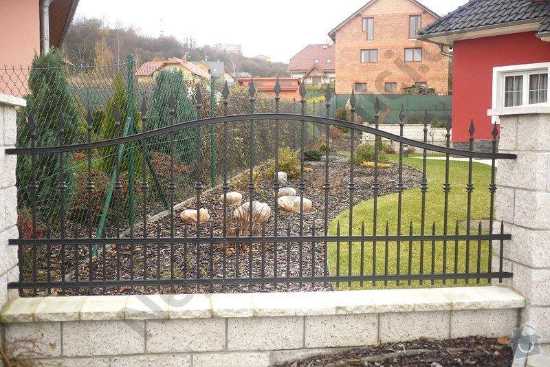 Ozdobný kovaný plot, branka a křídlová brána s pohonem: VN04