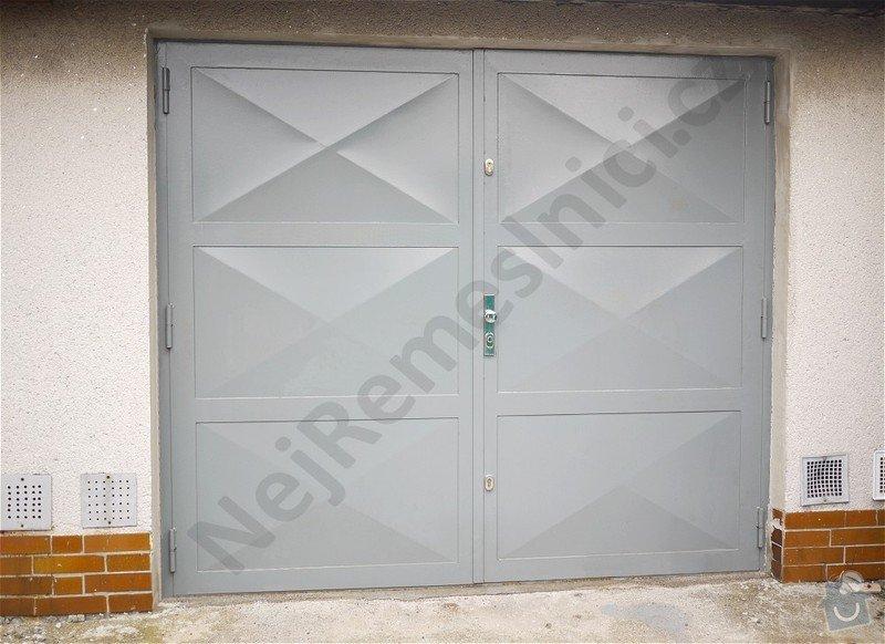 Garážová vrata - návrh, dodání, montáž: VN01