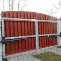 Kridlova brana s pohonem a vchodova branka vn01