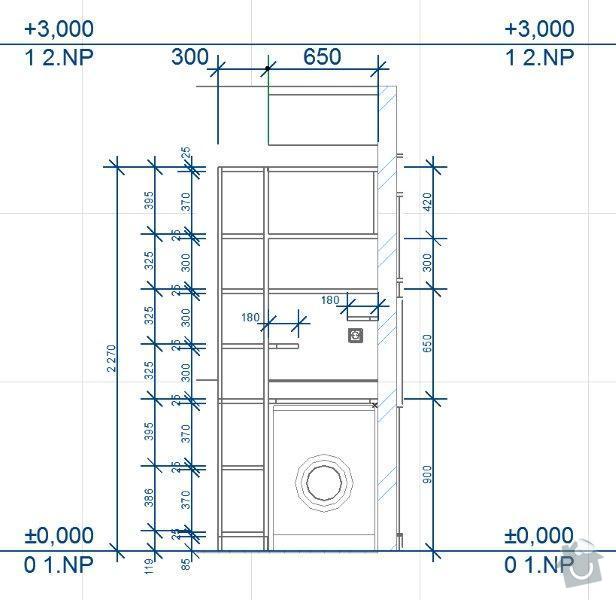 Výroba skříněk do koupelny a polic do sklepa: K02_-_A