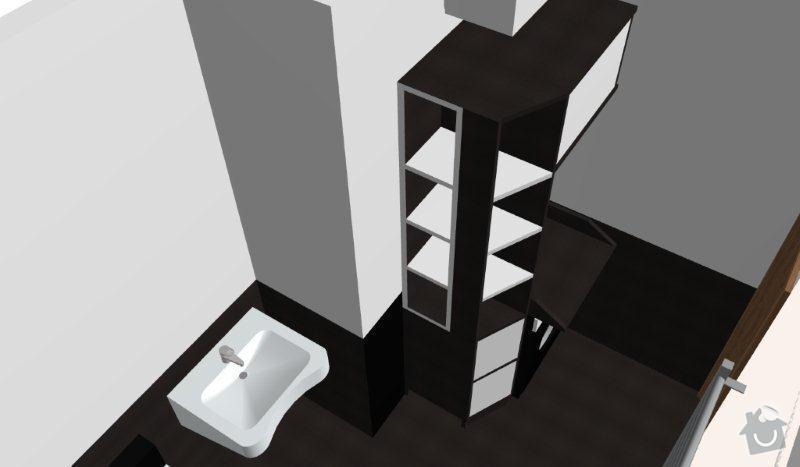 Výroba skříněk do koupelny a polic do sklepa: K05_-_B
