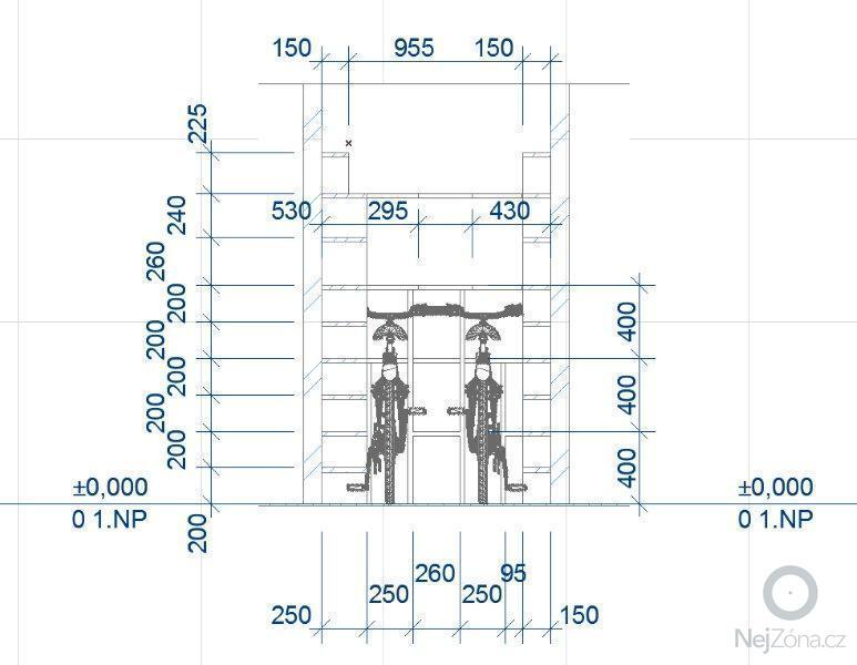 Výroba skříněk do koupelny a polic do sklepa: S04