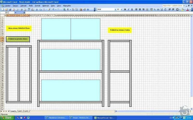 Kovový regál pro akvária 150x50x70, 150x50x60: 328428