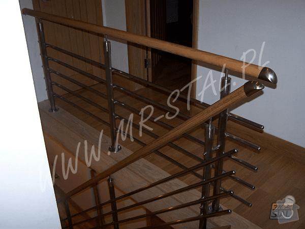 Interiérové zábradlí nerez/dřevo dub: 2.4