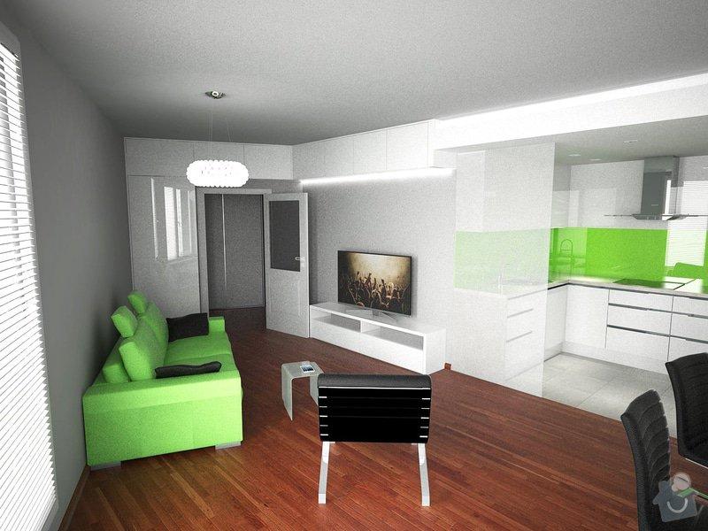 Vestavěný nábytek + Kuchyňská linka: obyvak1