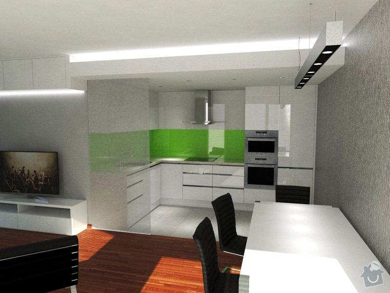 Vestavěný nábytek + Kuchyňská linka: obyvak2
