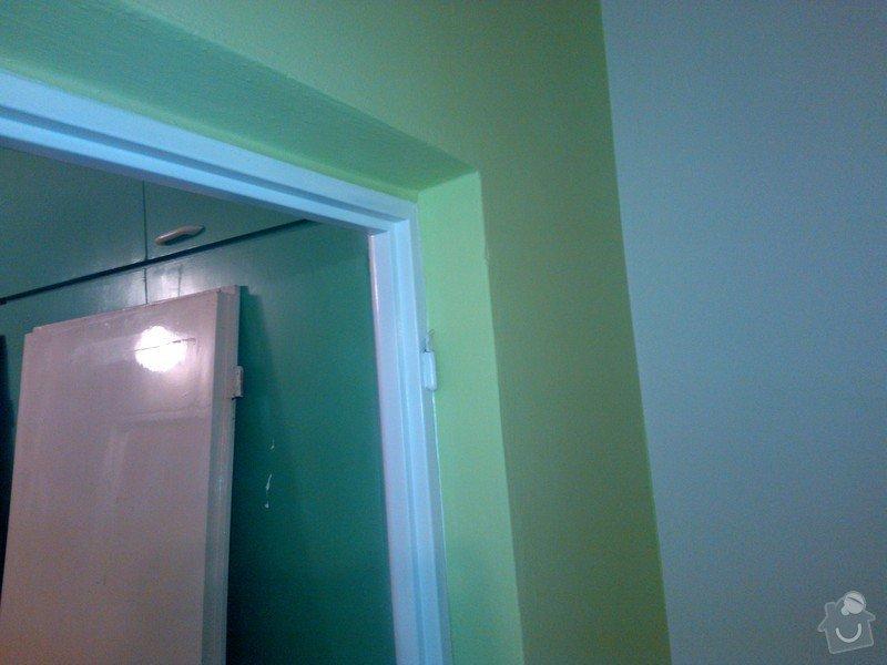 Výmalba bytu, nástřik zárubní, výměna zásuvek v bytě: Malovani_pokoje_nastrik_zarubni_