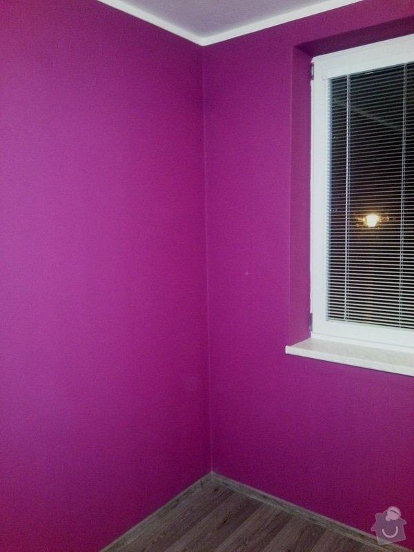 Malování pokoje, oprava původní malby: a._sedlacik