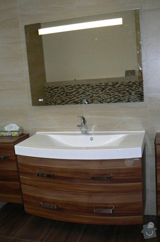 Montáž koupelnového nábytku a zrcadla: koupelna-dubi