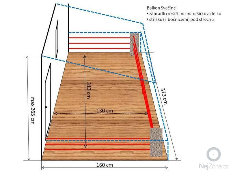 Balkon - zábradlí a zastřešení: Balkon