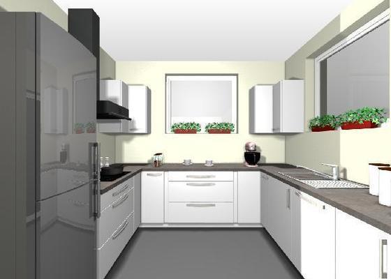 Instalace pracovní desky v kuchyni